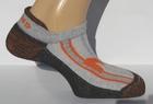 Носки Mund 806 Invisible Rizo серые