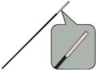 Сегменты дуги фибергласс Ø 7,9 мм, длина 55см