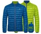 Polar down jacket пуховик двухсторонний Blue/Lime (голубой/зеленый)