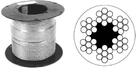 Трос для растяжки 3/4 мм в оплетке ПВХ, DIN3055 (200м)